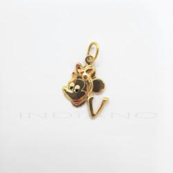 Colgante Oro Minnie Letra VP011001026
