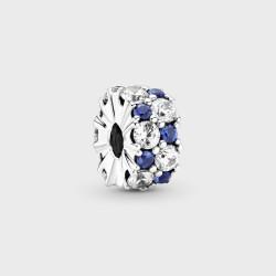 Clip Pandora Brillos Azules y Transparentes799171C01