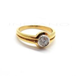 Sortija Oro Brillante Boquilla Oro BlancoP005500290