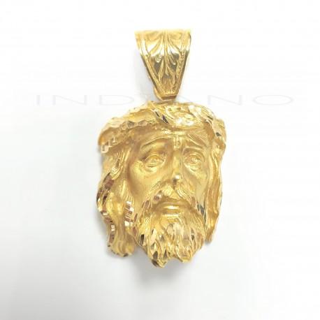 Colgante Oro Cabeza de Cristo Ladeada
