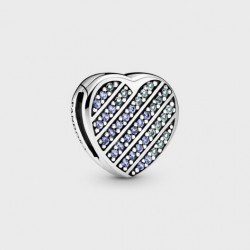 Charm Reflexions Corazón Azul en Pavé799346C01