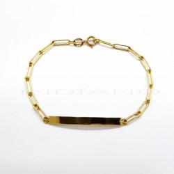 Esclava Oro Chapa Rectangular Lisa Cadena ForxaP005502480