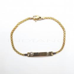 Esclava Oro Bicolor Cadena BismarkP023000088