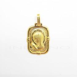 Medalla Oro Rectangular Virgen NiñaP023000607
