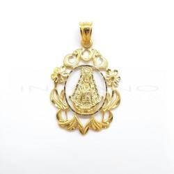 Medalla Oro Orla Floreada Virgen del RocíoP010300116