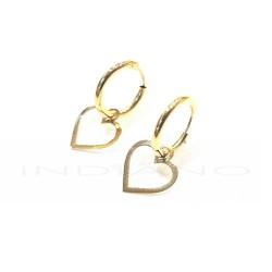 Pendientes Oro Aros con Corazón CaladoP010200669