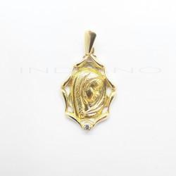 Medalla Oro Ovalada Virgen Niña CirconitaP008500377