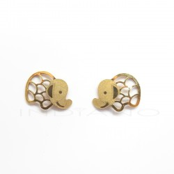 Pendientes Oro Elefantes CaladosP013800408