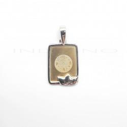 Medalla Oro Bicolor Cuadrada RelojP016300149