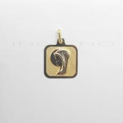Medalla Oro Cuadrada Virgen NiñaP022500051