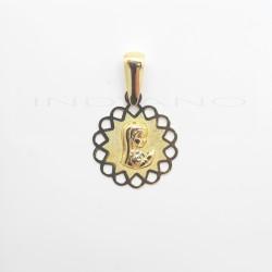 Medalla Oro Tipo Flor Virgen NiñaP022500053
