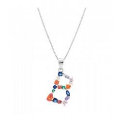 Collar Plata Letra B Circonitas ColoresP026200460