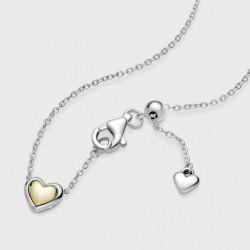 Collar Pandora Corazón Cúpula Dorada399399C00-45