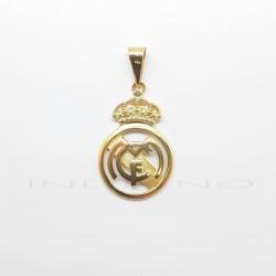 Colgante Oro Escudo Real Madrid Mate y BrilloP010400045
