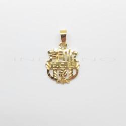 Colgante Oro Escudo Barcelona CaladoP010400107
