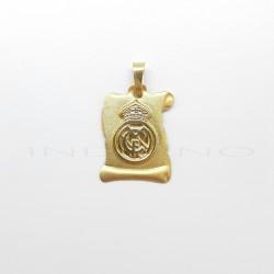Colgante Oro Pergamino Real MadridP010400109