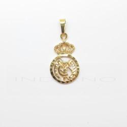 Colgante Oro Escudo Real Madrid CaladoP010400113