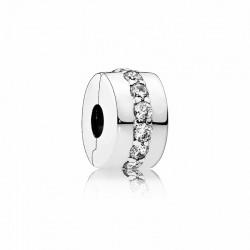 Clip Pandora Fila Brillante Transparente791972CZ