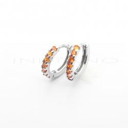 Pendientes Plata Aros Circonitas NaranjasP002304982
