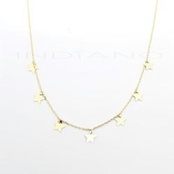 Gargantilla Oro Estrellas LisasP026300158