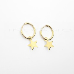 Pendientes Oro Largos Aros Motivo Estrella LisaP026300159