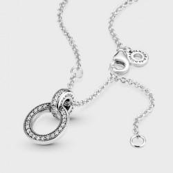 Collar Pandora Colgante Doble Círculo399487C01-45