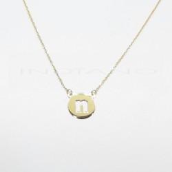 Colgante Oro Círculo con Inicial N CaladaP023700207