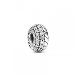 Clip Pandora Diseño Cadena de Serpiente en Pavé799089C01