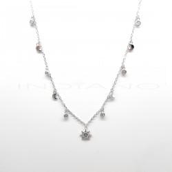 Gargantilla Plata Motivos Luna Chatones y Estrella AzulP026600131