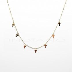 Gargantilla Oro Siete Cruces lisasP026300057