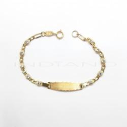 Esclava Oro Bilbaina Circonitas 3 x 1P026800003