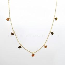 Gargantilla Oro Bolitas Siete Estrellas  LisasP026300072