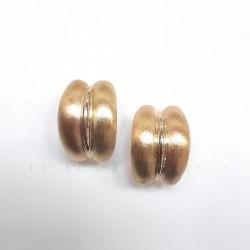 Pendientes Oro Doble Banda MatizadaP005504718