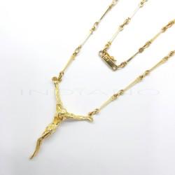 Cristo Dalí Oro Mediano Cadena ClavosP000201851