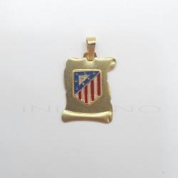 Pergamino Oro Escudo Atlético de MadridP010400012