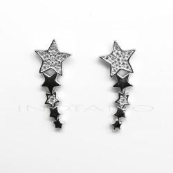 Pendientes Plata Trepadores Estrellas Lisa y CirconitasP002304902