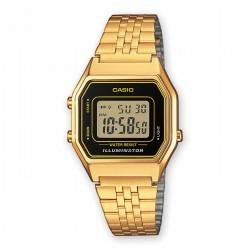 Reloj Casio Retro Dorado Esfera NegraLA680WEGA-1ER