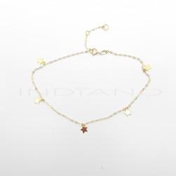 Tobillera Oro Cinco Estrellas LisasP000201935