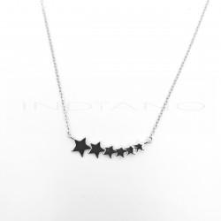 Gargantilla Plata Seis Estrellas DisminuciónP002305006