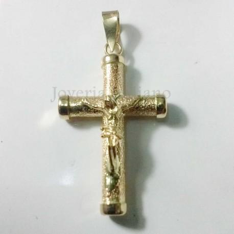 Cruz Oro Diamantada Cristo