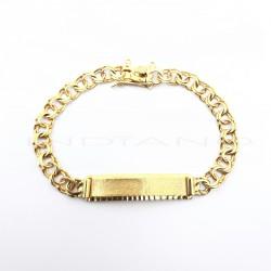 Esclava Oro Chapa Lapidada Eslabón HungaroP023001397