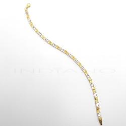 Pulsera Oro Bicolor GrecaP011000528