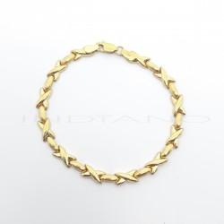 Pulsera Oro Eslabones Pajaritas y OvalosP023001459