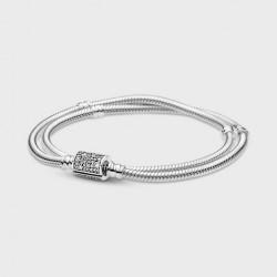 Pulsera Pandora Moments Cadena de Serpiente con Cierre Doble Envoltura599544C01-D17