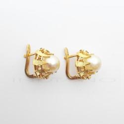 Pendientes Oro Roseton Perla Cultivada0005505408
