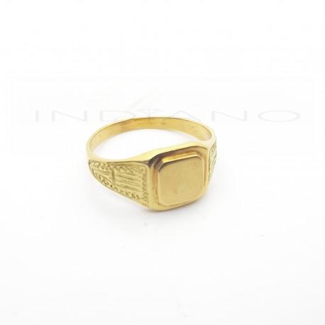 Sello Oro Cadete Brazo Labrado Tabla Cuadrada Doble