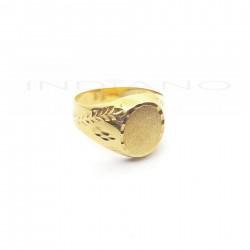 Sello Oro Cadete Brazo Lapidado Tabla Oval MatizadaP009200245