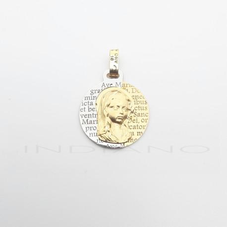 Medalla Oro Bicolor Virgen Niña