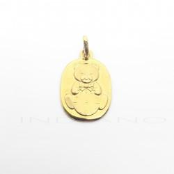 Medalla Oro Osito con RelojP011000526