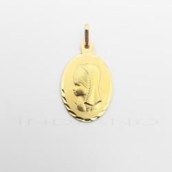 Medalla Oro Ovalada Virgen NiñaP011000769
